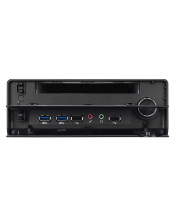 XH110V S1151 H110 BLACK 90W Shuttle Xpc, Farbe: schwarz Intel H110 Chipsatz, S1151, 5.1-Kanal Sound, 2xDDR3L SO-DIMM,  USB2.0/3.0, 2xGBL, HDMI, 2xCOM-Port, 90W(extern),