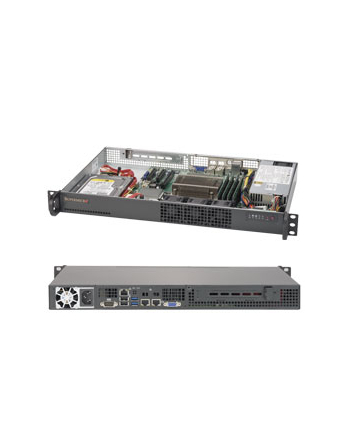 SUPERMICRO 1U BARE 1XEON V5 C232 1X3.5 200W 64GB SATA3 2GBE 1PCIE       IN
