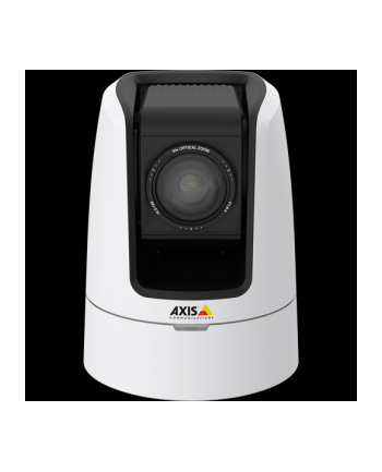 AXIS V5914 50HZ < EUR > Generic PTZ camera with 30x zoom, autofocus and HDTV 720p resolution at 50/fps for live streaming of video and audio. Video conference design, smooth pan and tilt, WDR, EIS. HDMI, 3G-SDI, XLR-3  for studio connectivity.