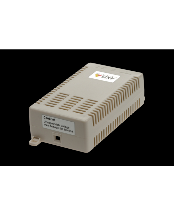AXIS T8127 60 W SPLITTER 12/24 V DC PoE splitter. Can deliver both 12 and 24 V DC (user selectable) from High PoE 60W midspan. Useful to power and connect non-PoE devices like IP cameras, magnetic locks for access control systems, WiFi AP, thin clients et