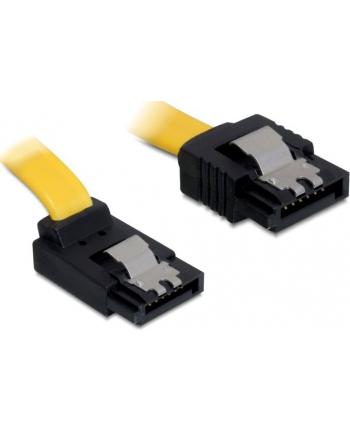 Delock kabel SATA 6 Gb/s kątowy góra/prosty metal. zatrzaski 20cm żółty