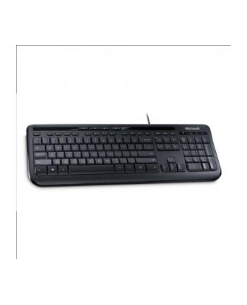 Microsoft Wired Kbrd 600 USB Port Eng Intl Euro Hdwr Black