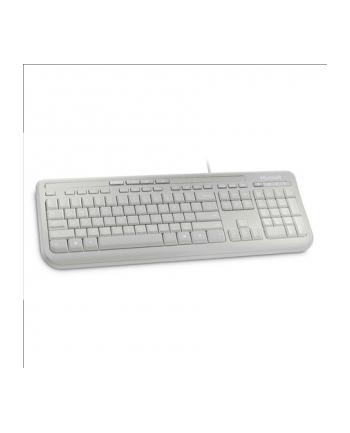 Microsoft Wired Kbrd 600 USB Port Eng Intl Euro Hdwr White