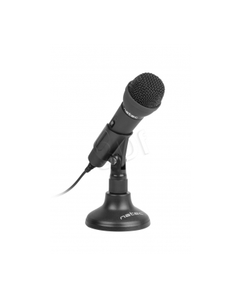 Natec Mikrofon ADDER Czarny Mini Jack 3,5mm Mikrofon Dookólny niskoszumowy