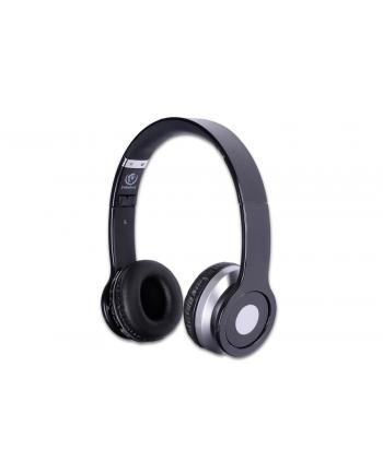 Rebeltec Stereofoniczne słuchawki z mikrofonem CRISTAL BLACK