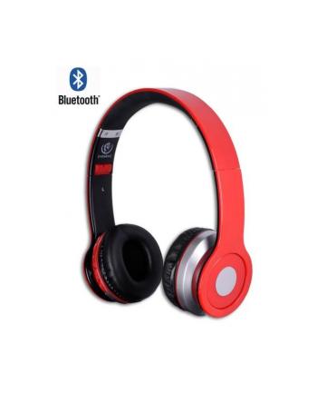 Rebeltec Stereofoniczne słuchawki z mikrofonem CRISTAL RED
