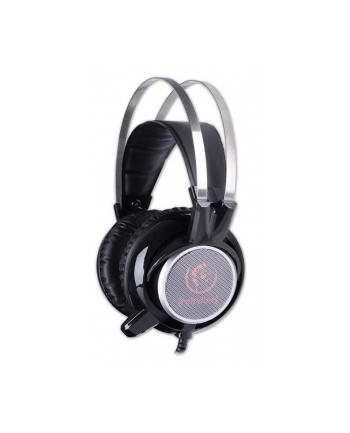 Rebeltec Stereofoniczne słuchawki z mikrofonem CRISTAL WHITE