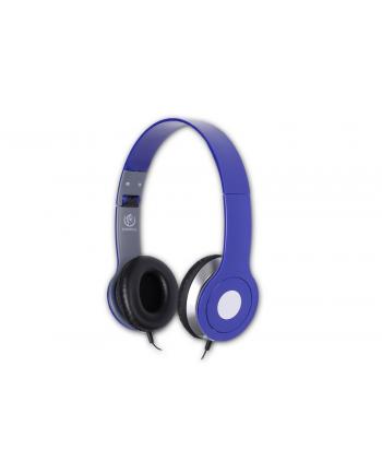 Rebeltec Stereofoniczne słuchawki z mikrofonem CITY BLUE