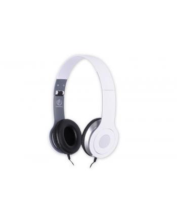 Rebeltec Stereofoniczne słuchawki z mikrofonem CITY WHITE