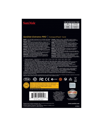 Sandisk CF 256GB ExtremePro2 160MB/s