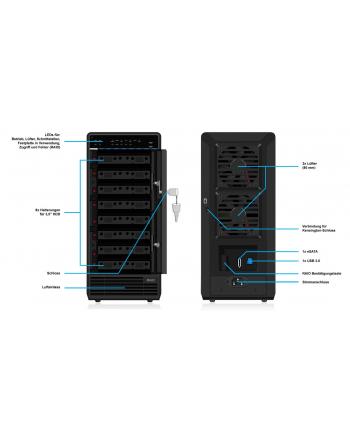 ICY BOX IB-RD3680SU3 black 8x3.5 Cala - RAID