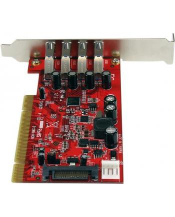 4 PORT PCI USB 3 ADAPTER CARD StarTech.com 4 Port USB 3.0 PCI Schnittstellenkarte - PCI SuperSpeed USB 3.0 Controller Karte - 2 x USB3.0 (Buchse) je 1x SATA/SP4 intern