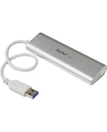 4 PORT PORTABLE USB 3.0 HUB StarTech.com 4 Port kompakter USB 3.0 Hub mit eingebautem Kabel - Aluminium USB Hub - Silber