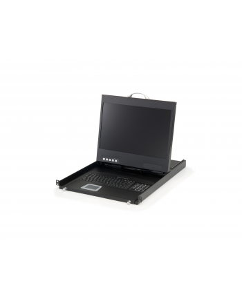 LevelOne 19IN WIDESCREEN LCD KVM RACK CONSOLE DE KEYBOARD