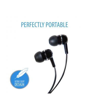 V7 AUDIO IN-EAR EARBUDS BLACK STEREO HEADPHONES                IN