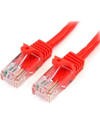 3M RED CAT 5E PATCH CABLE StarTech.com 3m Cat5e RJ45 UTP Netzwerkkabel Snagless - Cat 5e Patchkabel - Rot - Stecker / Stecker
