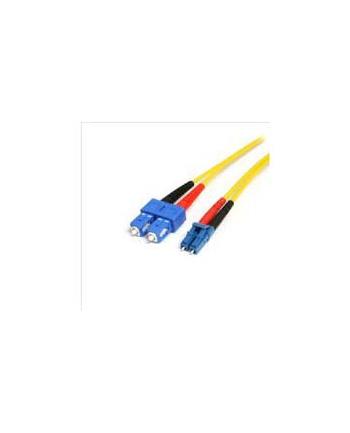 4M LC TO SC FIBER PATCH CABLE StarTech.com 4m Singlemode 9/125 Duplex LSZH LC auf SC OS1 LWL / Glasfaser-Netzwerkkabel - Gelb