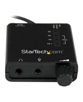 USB SOUND CARD ADAPTER W SPDIF StarTech.com USB Audio Adapter - Externe USB Soundkarte mit SPDIF Digital Audio mit 2x 3,5mm Klinke - USB auf Audio Konverter - Schwarz