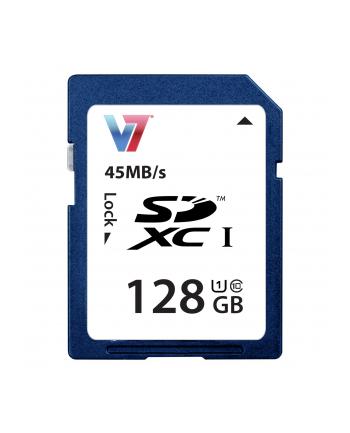 V7 SD CARD 128GB SDXC CL10 UHS SDXC Karte, 128GB, UHS-1
