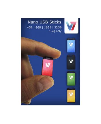 V7 NANO USB STICK 4GB BLACK USB 2.0 23X12X4MM RETAIL
