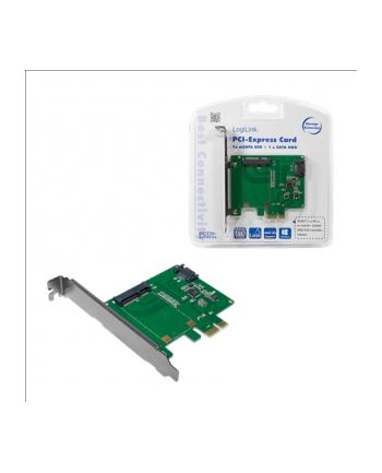 LogiLink Karta PCI Express, 1 x mSATA SDD + 1 x SATA HDD