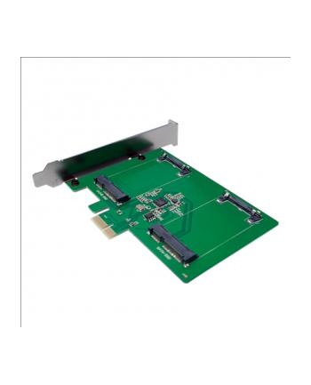 LogiLink Karta PCI Express, 2 x mSATA SDD