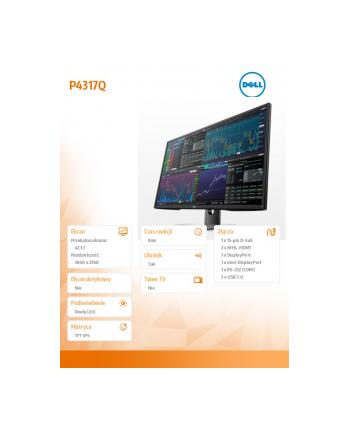 Dell 43' P4317Q LED16:9 3840 x 2160 UHD 4K 3YPPG