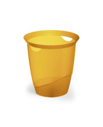 Trend kosz na śmieci 16 l, pomarańczowy-przezroczysty DURABLE