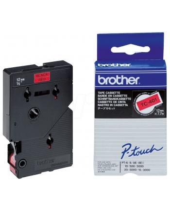 Brother TC-401 12mm czerwony/czarny