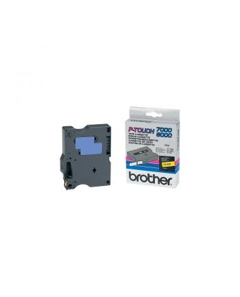 Brother TX-621 (9mm, żółty na czarnym)