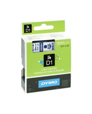 Dymo D1 19mm niebieski/biały (45804/S0720840)