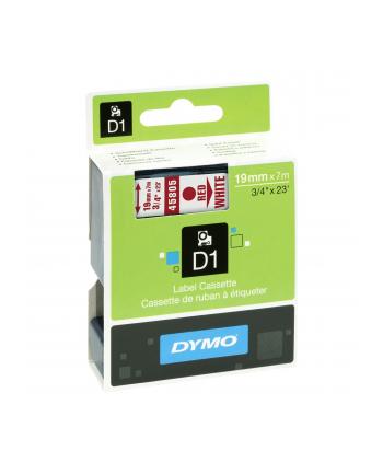 Dymo D1 19mm czerwony/biały (45805/S0720850)