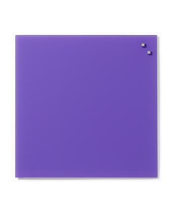 NAGA Szklana tablica magnetyczna fioletowa 45x45 cm