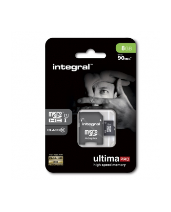 Integral micro SDHC/XC Cards CL10 8GB - Ultima Pro - UHS-1 90 MB/s transfer