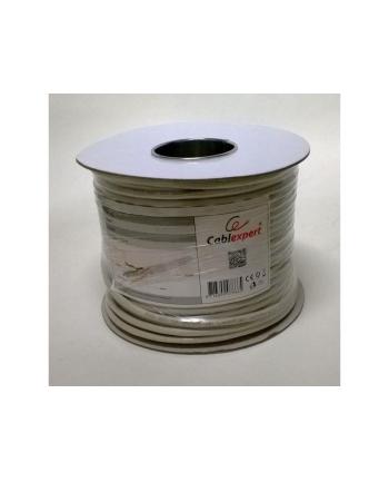 Gembird kabel instalacyjny skrętka SFTP, 4x2, kat. 6A, LSZH, drut 305m, szary