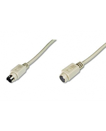 ASSMANN Kabel przedłużający PS2 Typ miniDIN6/miniDIN6 M/Ż beżowy 5m
