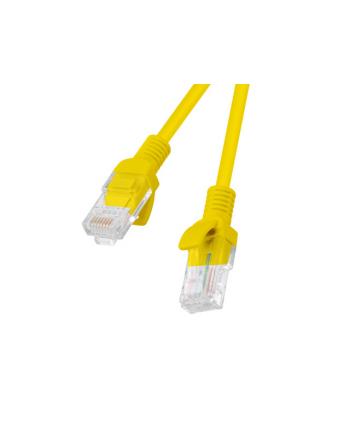 Patch cord kat.5E 0.25M żółty Lanberg