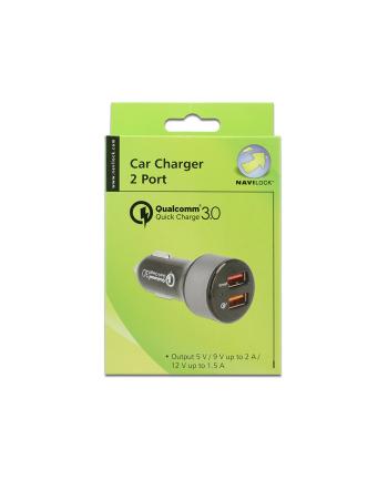 Delock ładowarka zapalniczka 12V/24V -> 1xUSB Qualcomm Quick Charge+1xUSB 2.4A