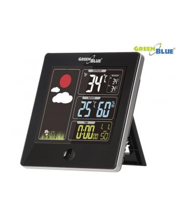 GreenBlue Stacja pogody bezprzewodowa DCF GB521B czarna