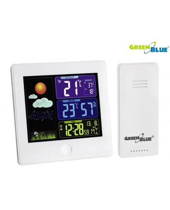 GreenBlue Stacja pogody bezprzewodowa DCF GB521W biała