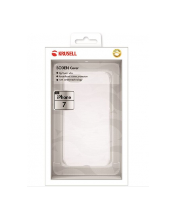 Krusell Apple iPhone 7 BODEN Cover Biały Transparent