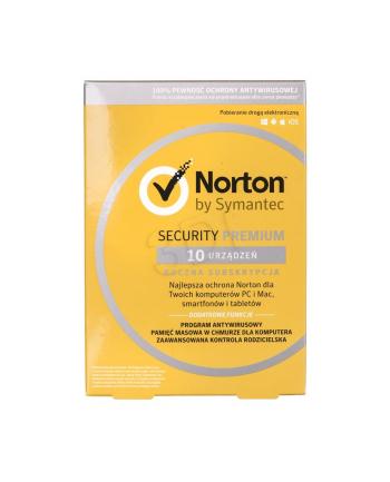 Symantec NORTON SECURITY PREMIUM 3.0 25GB PL 1 U 10/12M ESD