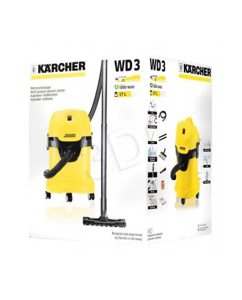 Odkurzacz Karcher WD 3  (1.629-801.0) (z workiem lub bez 1000W czarno-żółty)