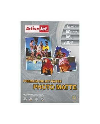 Papier fotograficzny matowy Activejet A4 100szt. 105g/m2