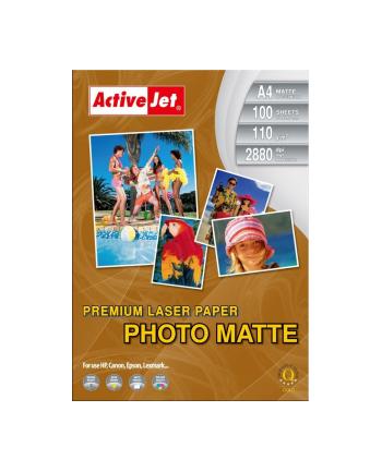 Papier fotograficzny matowy Activejet A4 100szt. 110g/m2 (do drukarek laserowych)