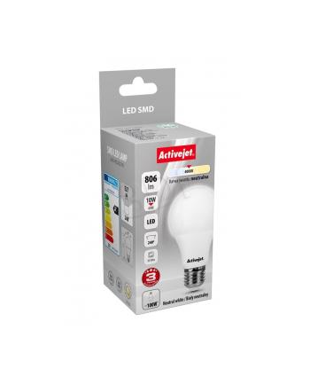 Activejet żarówka LED SMD AJE-HS2827N (standardowa 806lm 10W E27 biały neutralny)
