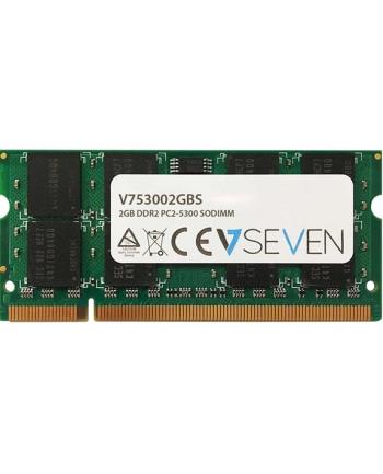 V7 2GB DDR2 667MHZ CL5 2GB, DDR2, PC2-5300, 667Mhz, SO DIMM