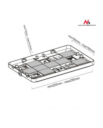 """Maclean MC-645 Stojak uchwyt reklamowy do tabletu podłogowy z blokadą 9.7""""-10.1"""""""