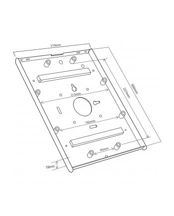 Maclean MC-677 Stojak uchwyt reklamowy do tabletu biurkowy z blokadą iPad 2/3/4/
