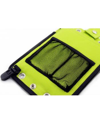 PowerNeed Sunen Ładowarka solarna 2.5W z power bankiem 3000mAh Li-Poly, zielona